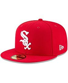 Men's Red Chicago White Sox Fashion Color Basic 59FIFTY Fitted Hat