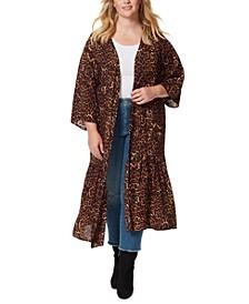 Plus Size Printed Leilani Tiered Kimono