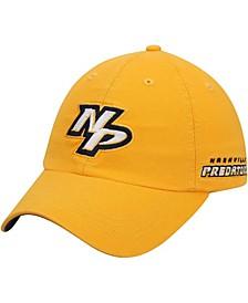 Men's Gold Nashville Predators Dad Ligature Adjustable Hat