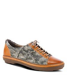 Women's Libbi-Python Leather Sneakers