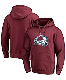 Men's Burgundy Colorado Avalanche Primary Team Logo Fleece Pullover Hoodie