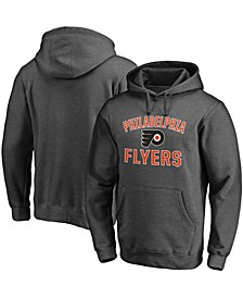 Men's Heathered Charcoal Philadelphia Flyers Team Victory Arch Pullover Hoodie