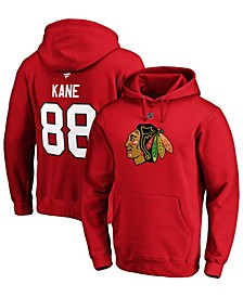 Men's Patrick Kane Red Chicago Blackhawks Authentic Stack Player Name and Number Pullover Hoodie