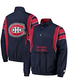 Men's Navy Montreal Canadiens Impact Half-Zip Jacket