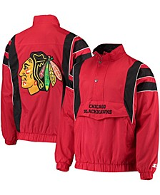 Men's Red Chicago Blackhawks Impact Half-Zip Jacket