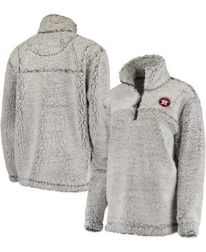 Women's Gray Houston Astros Sherpa Quarter-Zip Pullover Jacket