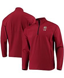 Men's Garnet South Carolina Gamecocks Coaches Squad Quarter-Zip Jacket