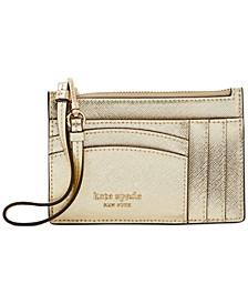 Boxed Spencer Metallic Leather Card Case Wristlet