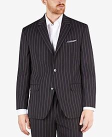 Men's Classic-Fit Black Stripe Suit Separate Jacket