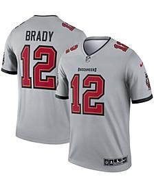 Men's Tom Brady Gray Tampa Bay Buccaneers Inverted Legend Jersey