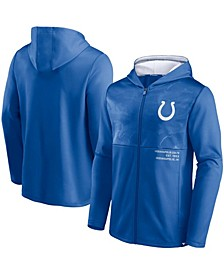 Men's Royal Indianapolis Colts Defender Full-Zip Hoodie Jacket