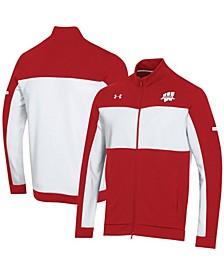 Men's  Red Wisconsin Badgers Forward Collection Full-Zip Fleece Jacket
