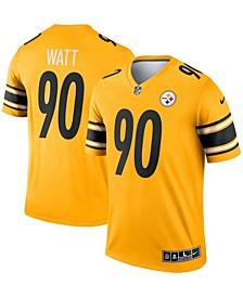 Men's T.J. Watt Gold-Tone Pittsburgh Steelers Inverted Legend Jersey