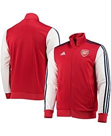 Men's Scarlet Arsenal 3-Stripes Full-Zip Track Jacket
