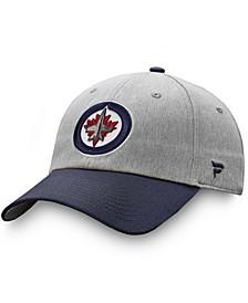 Men's Gray, Navy Winnipeg Jets Snapback Hat