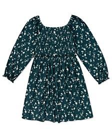 Big Girls Floral Smocked Bodice Dress