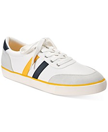 Men's Stripe Lace-Up Sneakers, Created for Macy's