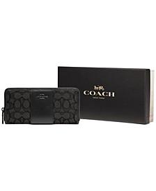 Boxed Slim Accordion Zip Wallet