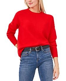 Long Sleeve Extend Shoulder Sweater