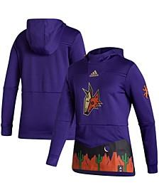 Women's Purple Arizona Coyotes Reverse Retro Pullover Hoodie