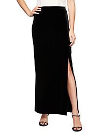Velvet Side Slit Skirt