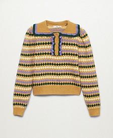 Women's Printed Knit Sweater