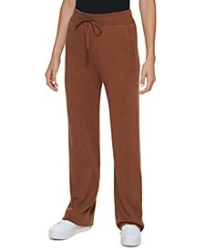 Wide Leg Ribbed Sweater Pants