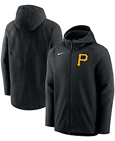 Men's Black Pittsburgh Pirates Authentic Collection Pregame Performance Full-Zip Hoodie