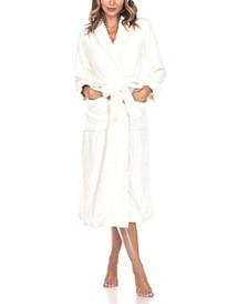 Plus Size Cozy Loungewear Belted Robe