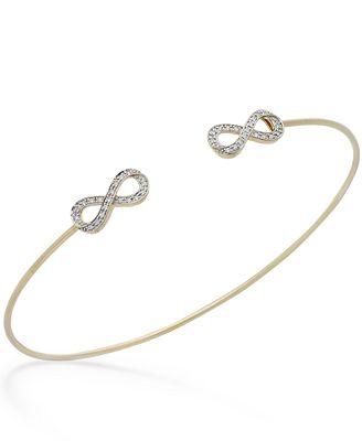 wrapped™ Diamond Infinity Bangle Bracelet 1 6 ct t w