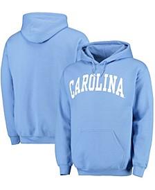 Men's Light Blue North Carolina Tar Heels Basic Arch Pullover Hoodie