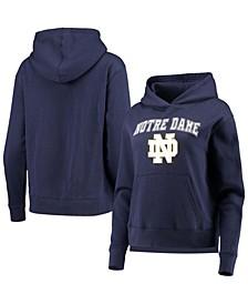 Women's Navy Notre Dame Fighting Irish All Day Team Fleece Pullover Hoodie