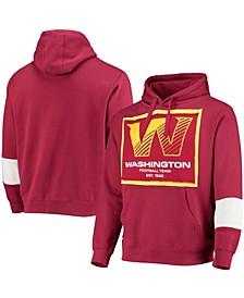 Men's Burgundy Washington Football Team Upcycled Pullover Hoodie