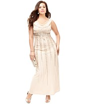 ae9ecefb9ba The Dress Diaries Plus Size Cowl-Neck Evening Dress Look