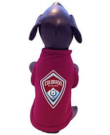 Maroon Colorado Rapids Pet T-shirt