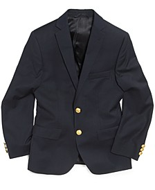 Solid Suit Blazer, Big Boys