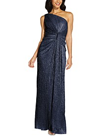Stardust One-Shoulder Gown