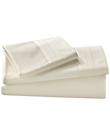 Donna Karan Home Ivory King Fitted Sheet