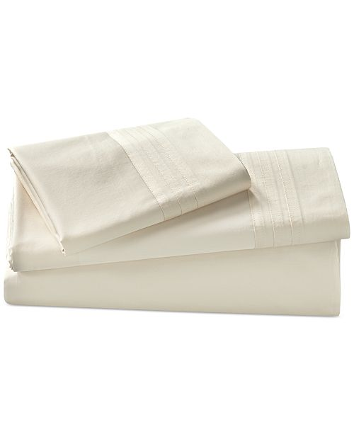 Donna Karan Home Ivory Queen Flat Sheet