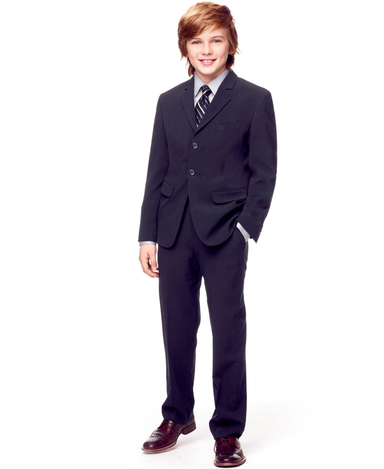 Calvin Klein Boys' Dress Shirt, Tie, Bi-Stretch Jacket & Suiting ...