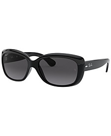 Women's Low Bridge Fit Sunglasses, RB4101F Jackie Ohh 58