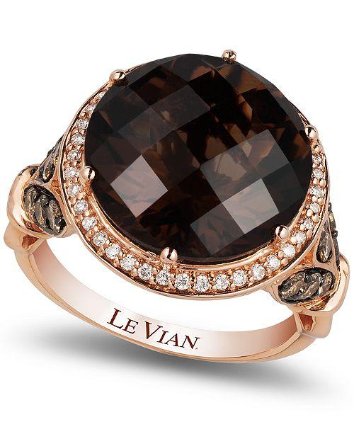 0a6e5547b Le Vian Chocolate Quartz® (8 ct. t.w.) and Diamond (3/4 ct. t.w. ...