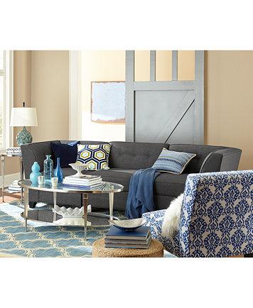 Harper Fabric Armless Living Room Chair