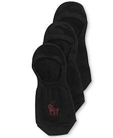 Ralph Lauren Men's No Show Liner Socks 3 Pack