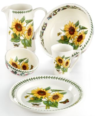 Brighten up your table with the beautifully naturalistic Botanic Garden Sunflower pattern. The collection is adorned with lively butterflies fluttering near ...  sc 1 st  Macyu0027s & Portmeirion Botanic Garden Sunflower Collection - Dinnerware ...