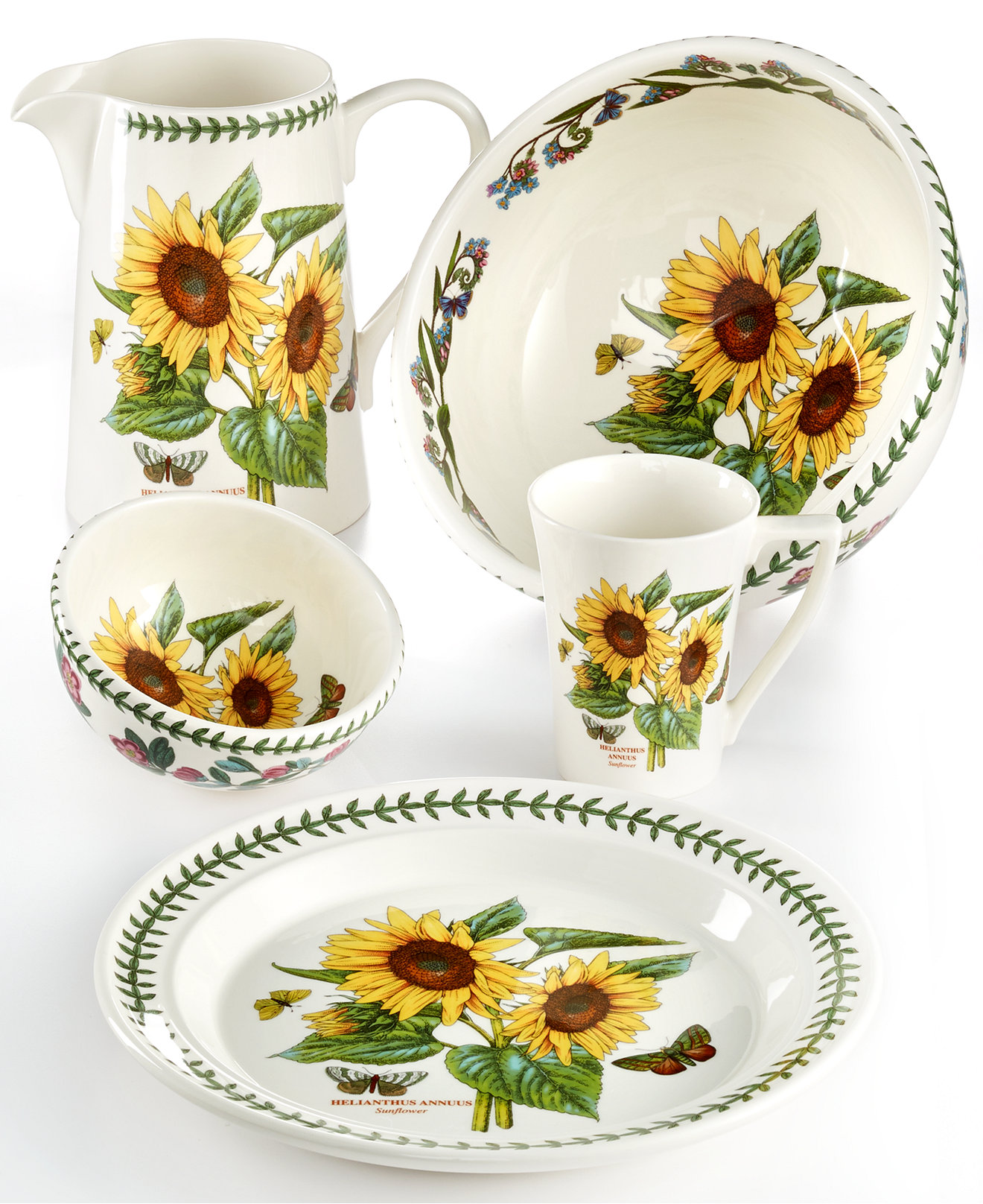 Portmeirion botanic garden 16 piece dinnerware set for Portmeirion dinnerware set of 4 botanic garden canape plates
