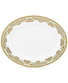 "Marchesa by Lenox Rococo Leaf 13"" Oval Platter"