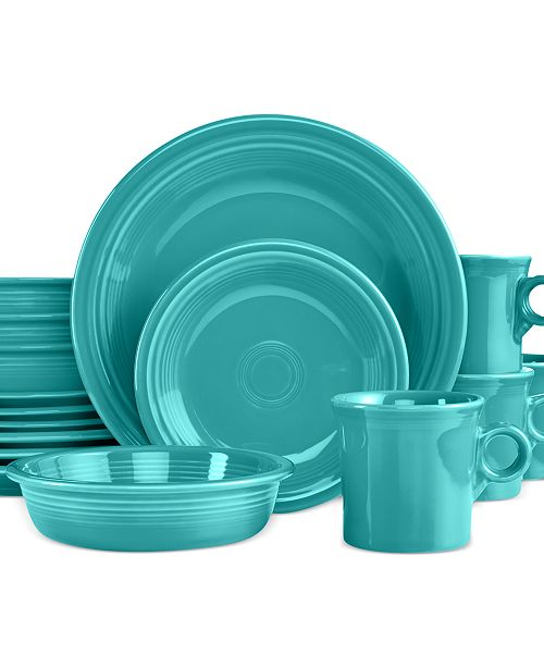 16-Piece Turquoise Set, Service for 4, Created for Macy's