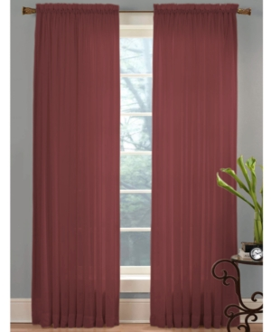 """Miller Curtains Closeout!  Sheer Angelica Voile 59"""" X 95"""" Panel In Crimson"""