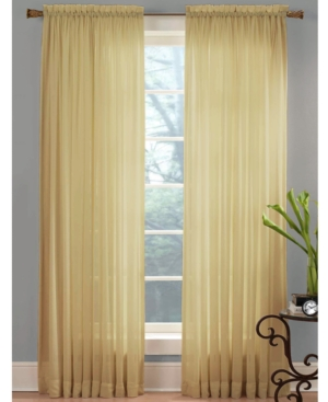 """Miller Curtains Closeout!  Sheer Angelica Voile 59"""" X 108"""" Panel In Desert"""